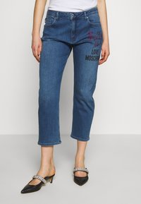 Love Moschino - Jean boyfriend - denim - 0