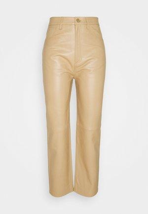 FRANCIS - Kožené kalhoty - sable