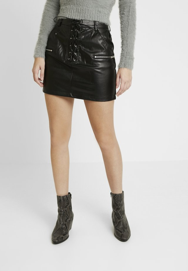 MINI - Mini skirt - black