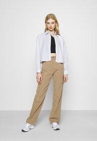 Weekday - GWEN  - Button-down blouse - blue/white - 1