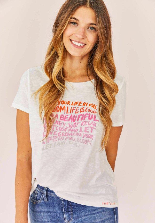 CILIAL - Print T-shirt - offwhite