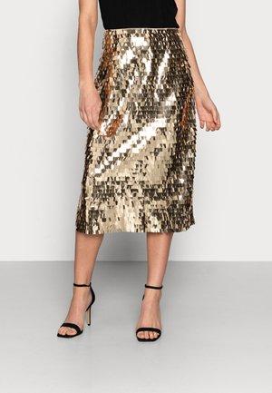 DAY PLATES - A-snit nederdel/ A-formede nederdele - rich gold