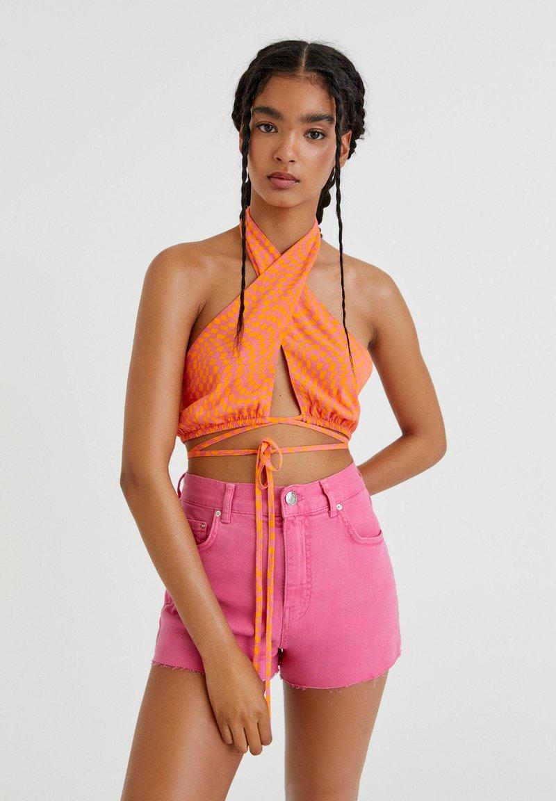 PULL&BEAR - Denim shorts - pink