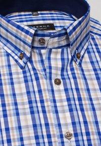 Eterna - COMFORT FIT - Shirt - beige/blau - 4