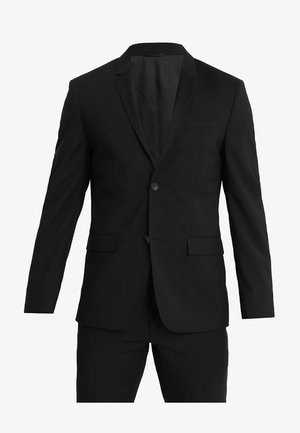 WOOL NATURAL STRETCH FITTED SUIT - Suit - perfect black