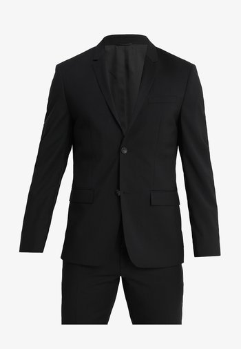 WOOL NATURAL STRETCH FITTED SUIT - Kostuum - perfect black