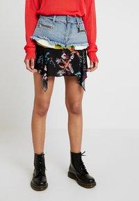 Diesel - O-BRIELLA SKIRT - Mini skirt - indigo/schwarz - 0