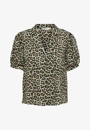 KURZÄRMELIG - Button-down blouse - pumice stone