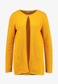 TOM TAILOR - CARDIGAN STRUCTURED - Cardigan - merigold yellow - 4