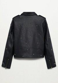 Mango - STAR - Faux leather jacket - schwarz - 1