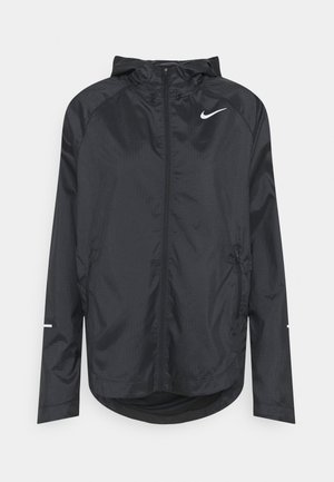 RUN JACKET - Laufjacke - black/silver