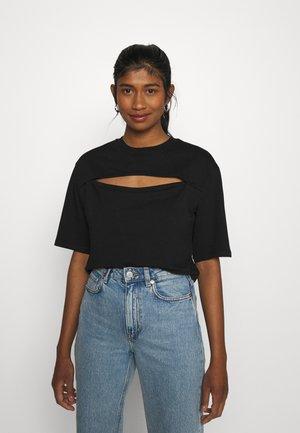 Print T-shirt - black dark