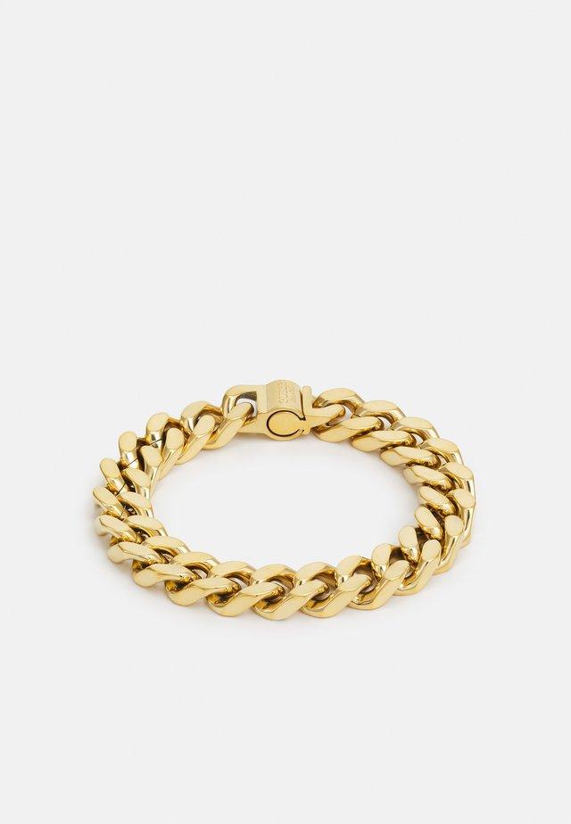 CURB UNISEX - Náramek - gold-coloured shiny