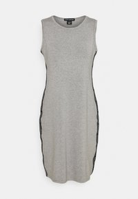 DKNY - SIDE TAPED FORM FITTED SHEATH - Jersey dress - heather grey - 4