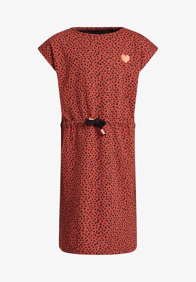 Korte jurk - rust brown