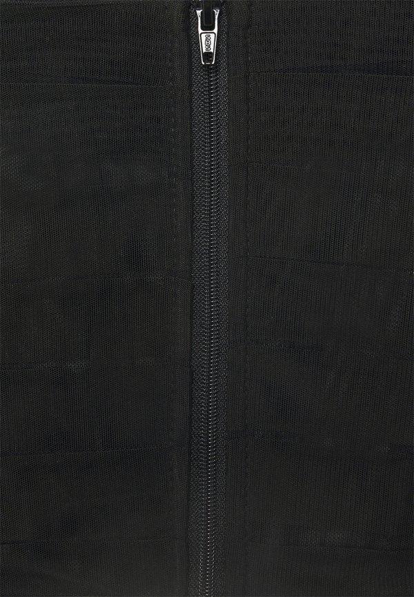 Missguided PUFF SLEEVE CORSET - Bluzka - black/czarny LQOA