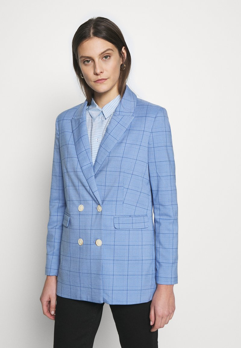 mine to five TOM TAILOR - MODERN GLENCHECK - Blazer - blue/check design