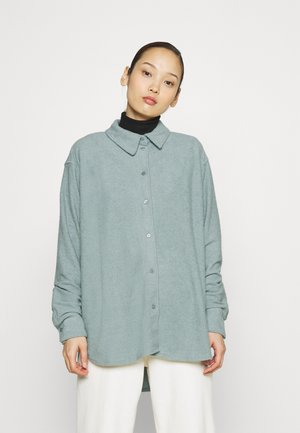 EDYN TOWELLING - Button-down blouse - green