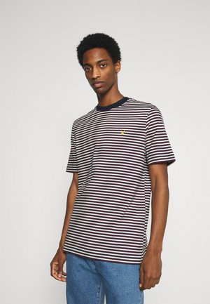 ARCHIVE STRIPE RELAXED FIT - Print T-shirt - dark navy