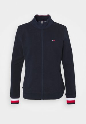 SLIM GLOBAL ZIP UP - Veste de survêtement - blue