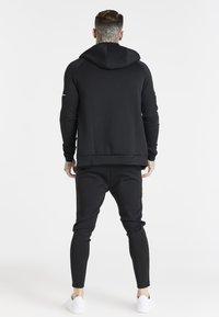 SIKSILK - EXPOSED TAPE ZIP THROUGH  - Zip-up sweatshirt - black - 2