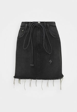 RACHEL SKIRT BELT - Minirok - denim