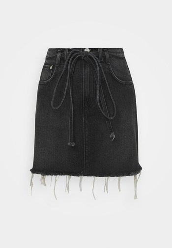 RACHEL SKIRT BELT - Minifalda - denim