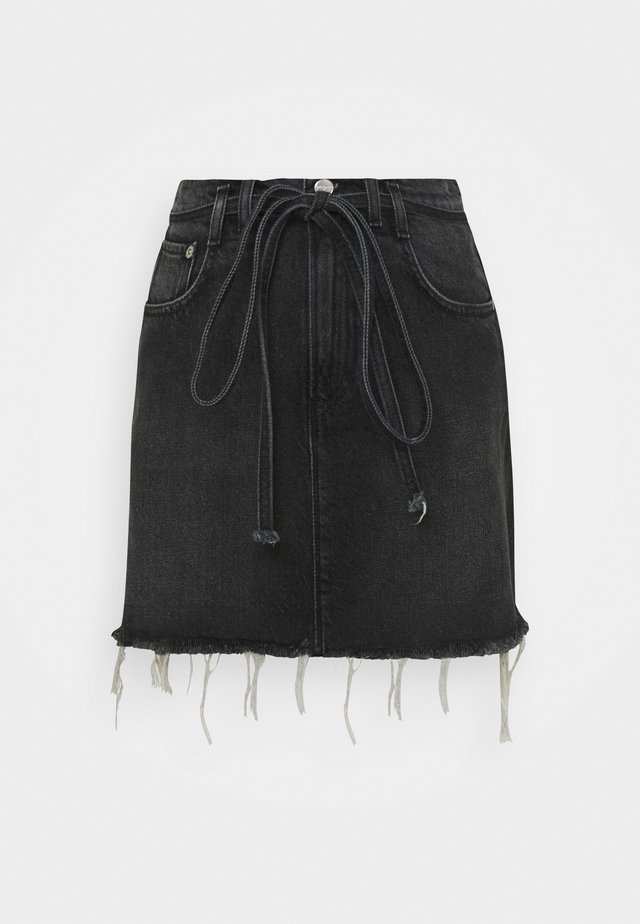 RACHEL SKIRT BELT - Spódnica mini - denim