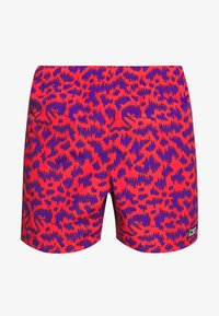 Obey Clothing - EASY RELAXED FUZZ SHORT - Kraťasy - red multi - 3