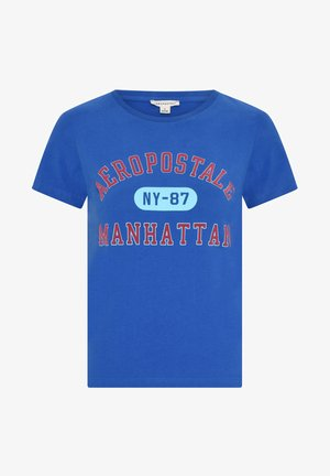 MANHATTAN  - Print T-shirt - blue