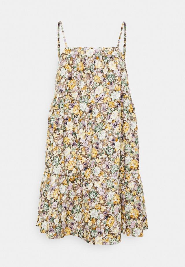 OBJJASIA SLIP DRESS PETIT - Korte jurk - sandshell