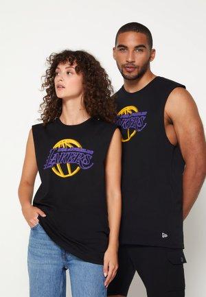 NBA LOS ANGELES LAKERS NEON SLEEVELESS TEE - Klubbkläder - black