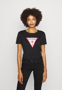 Guess - T-shirt con stampa - jet black - 0