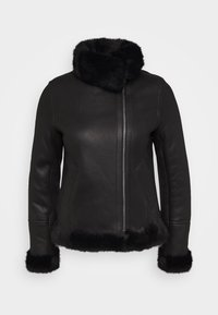 STUDIO ID - GINA SHEARLING JACKET - Leather jacket - black - 0