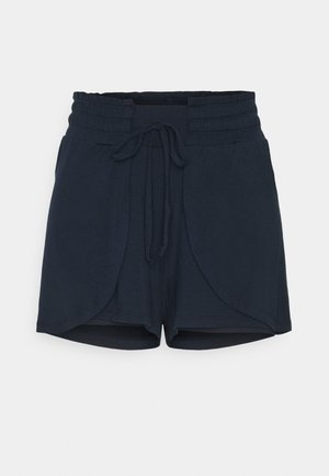 DOUBLE LAYER PETAL HEM SHORT - Pantalón corto de deporte - navy