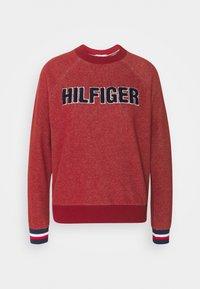 MODERN STRIPE TRACK - Pyjama top - deep rouge