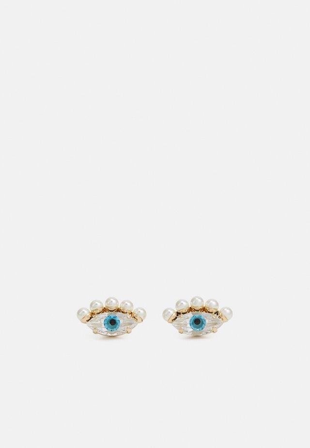 POST TINY EYES - Orecchini - cream/blue