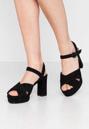 WOMS - Sandály na vysokém podpatku - black
