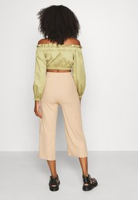 Even&Odd - Wide Cropped Pants - Trousers - cuban sand - 2