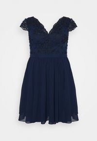 Chi Chi London Curvy - JOHANNA DRESS - Vestito elegante - navy - 0