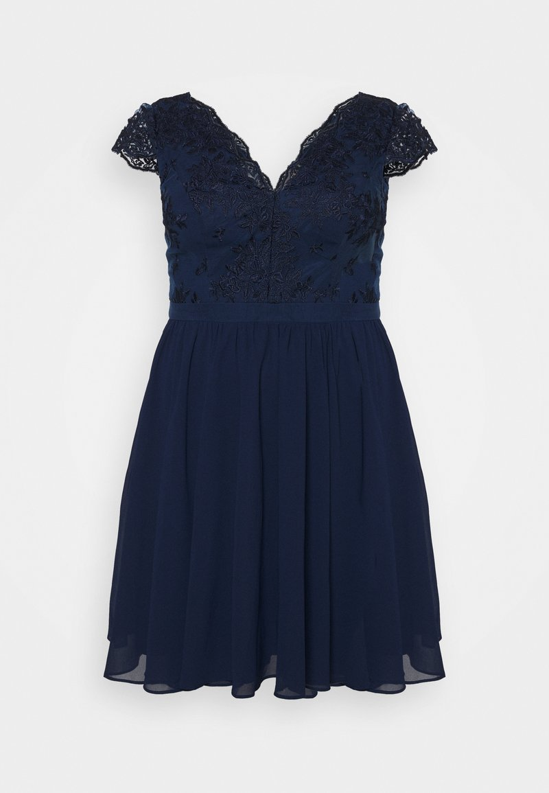 Chi Chi London Curvy - JOHANNA DRESS - Vestito elegante - navy