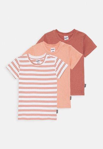 JAMIE SHORT SLEEVE TEE 3 PACK UNISEX - Print T-shirt - musk melon/chutney