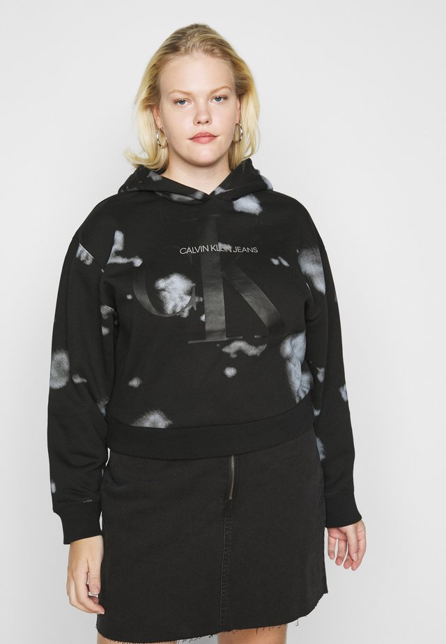 CLOUD WASHED HOODIE - Luvtröja - black