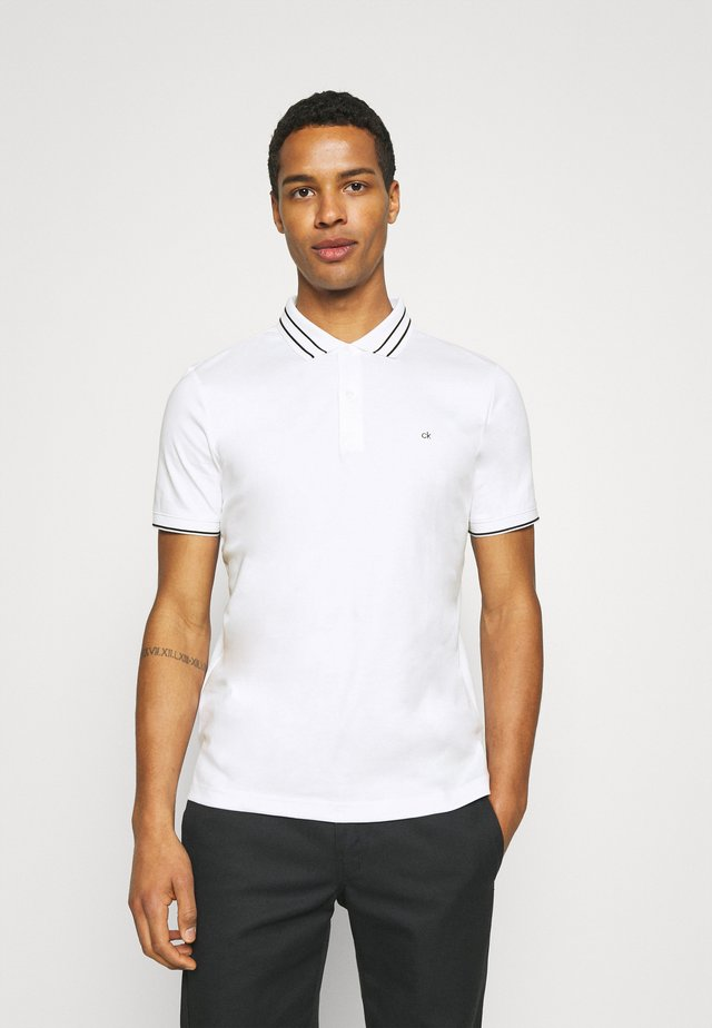 LIQUID TOUCH TIPPING SLIM - Polo shirt - bright white