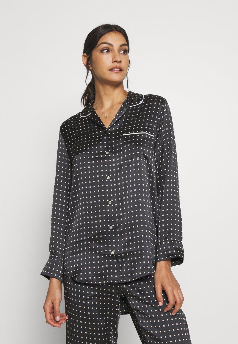 ASCENO - THE PARIS - Pyjamashirt - black square