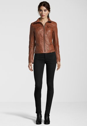 MODENA - 7 E / L - Leather jacket - tobacco