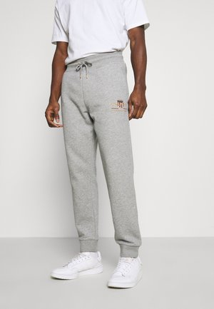 ARCHIVE SHIELD  - Tracksuit bottoms - grey melange
