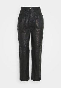 Topshop - ELLA  - Leather trousers - black - 3