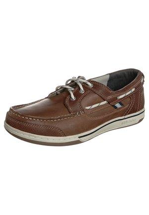 TRITON - Boat shoes - british tan / brown