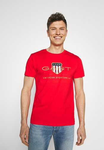 ARCHIVE SHIELD - T-shirt med print - lava red